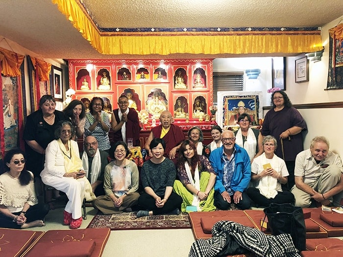 Thrangu Rinpoche with members